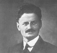 1915 passport photo of Trotsky
