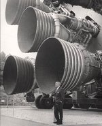 The  engines of the S-IC first stage engines dwarf their creator, .