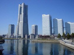 Japan's tallest building, the , is in the  district of Yokohama.
