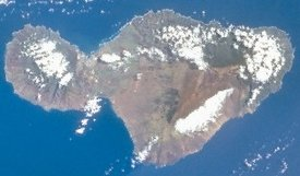 Image of Maui taken by NASA.