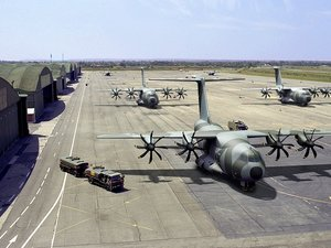 Artist's impression of the A400M parked on landing strip
