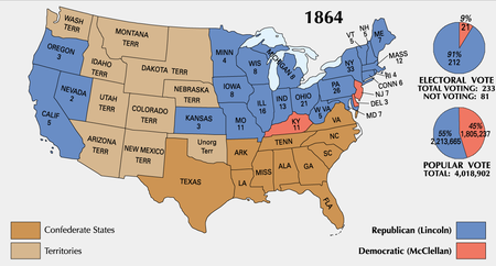 Presidential electoral votes by state.