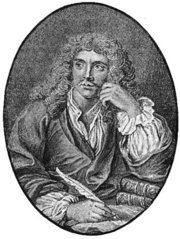 Molière, engraved frontispiece to his Works