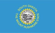 Flag of South Dakota. Image provided by Classroom Clip Art (http://classroomclipart.com)