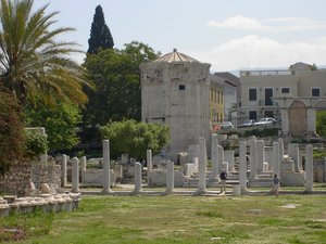 The ruins of the Agora, the commercial centre of ancient Athens.