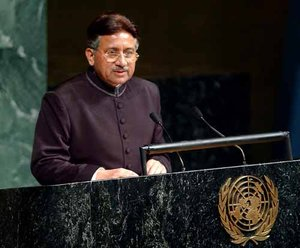 General Pervez Musharraf, President and Chief Executive of the Islamic Republic of Pakistan, addressing the  General Assembly on ,
