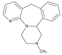 The structure of the tetracyclic antidepressant mirtazapine