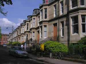 The computing science department, housed in a row of terraced houses