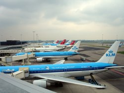 Part of the KLM fleet at  , .