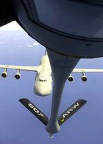 USAF  approaches a KC-135R