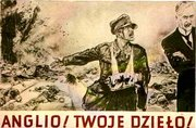 "German propaganda poster, says in Polish: ""England! Look what you've done!"""