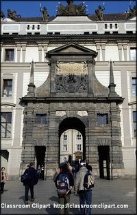 The Prague Castle Image provided by Classroom Clip Art (http://classroomclipart.com)