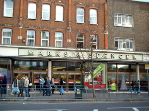 A Marks and Spencer store in south London.